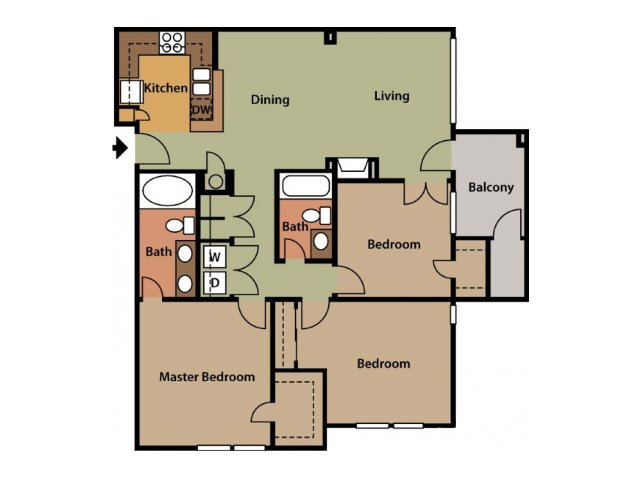 3 Bedrooms 2 Bathrooms Apartment for rent at The Park At Steele Creek in Charlotte, NC