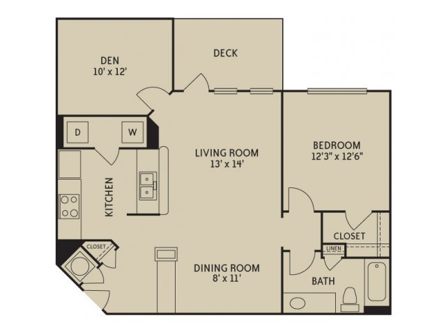 2 Bedrooms 1 Bathroom Apartment for rent at Notting Hill in Dunwoody, GA