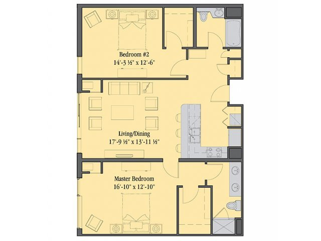 2 Bedrooms 2 Bathrooms Apartment for rent at Venice Lofts in Philadelphia, PA