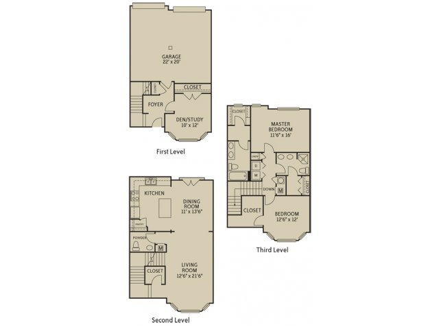 2 Bedrooms 2 Bathrooms Apartment for rent at Notting Hill in Dunwoody, GA