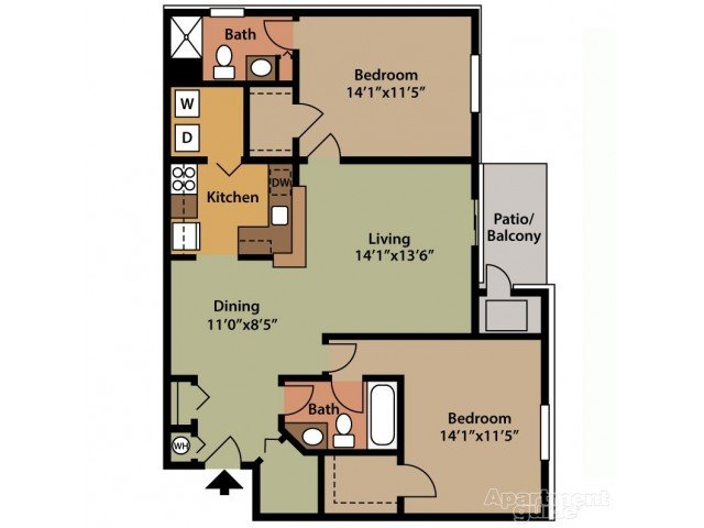 2 Bedrooms 2 Bathrooms Apartment for rent at Park Place Northville in Northville, MI