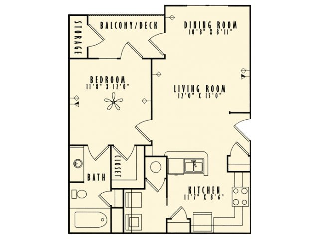 1 Bedroom 1 Bathroom Apartment for rent at Belmont Place Apartments in Marietta, GA