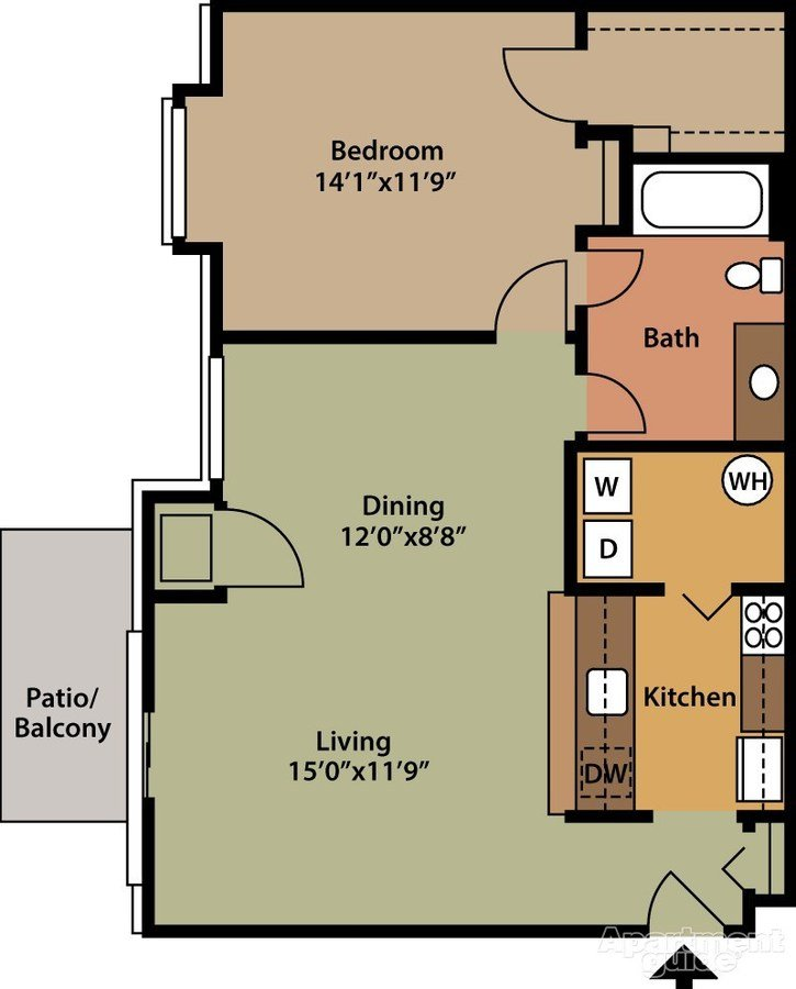 1 Bedroom 1 Bathroom Apartment for rent at Park Place Northville in Northville, MI