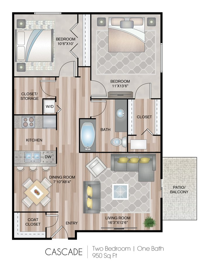 2 Bedrooms 1 Bathroom Apartment for rent at Park Place Northville in Northville, MI