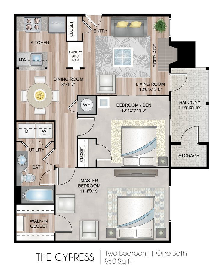 2 Bedrooms 1 Bathroom Apartment for rent at Chase Arbor Apartments in Virginia Beach, VA