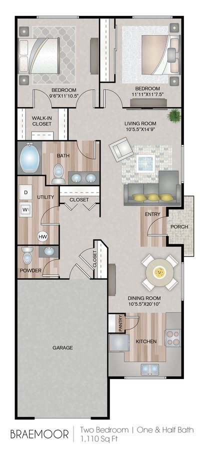 2 Bedrooms 1 Bathroom Apartment for rent at Carroll's Creek in Marysville, WA