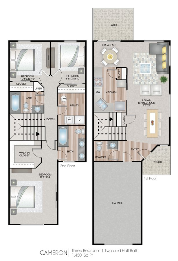3 Bedrooms 2 Bathrooms Apartment for rent at Carroll's Creek in Marysville, WA