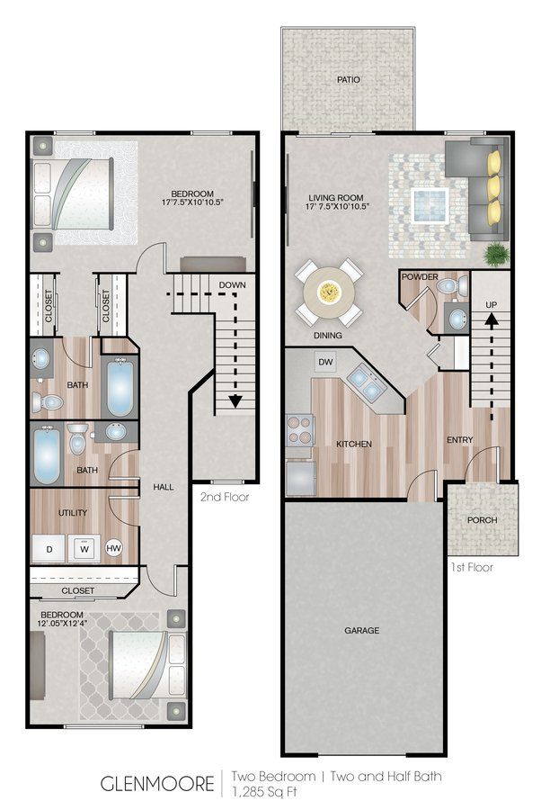 2 Bedrooms 2 Bathrooms Apartment for rent at Carroll's Creek in Marysville, WA