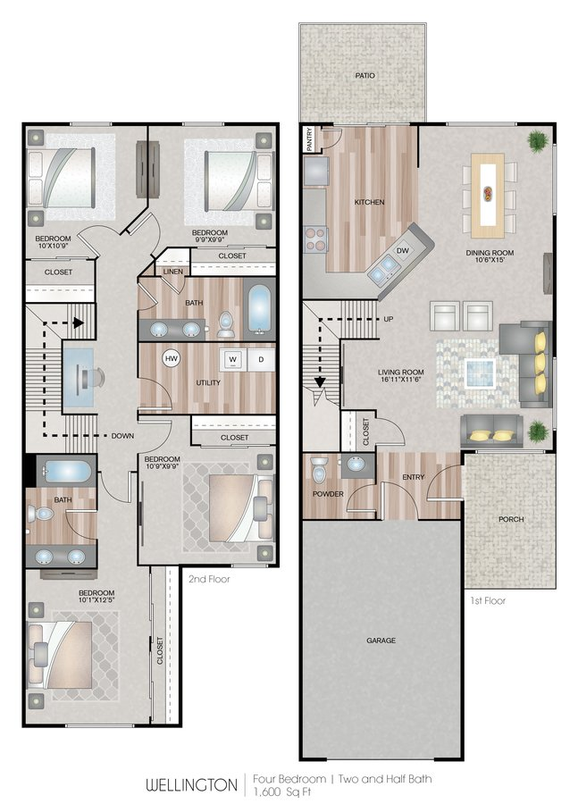 4 Bedrooms 2 Bathrooms Apartment for rent at Carroll's Creek in Marysville, WA
