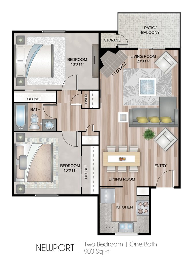 2 Bedrooms 1 Bathroom Apartment for rent at Eagle's Point Apartments At Tampa Palms in Tampa, FL