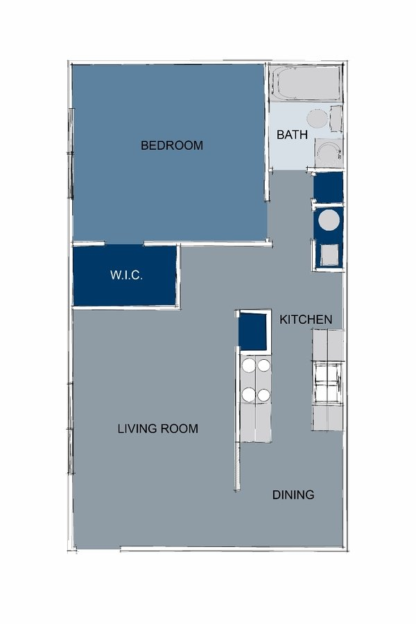1 Bedroom 1 Bathroom Apartment for rent at Brookstone Apartments in Lexington, KY