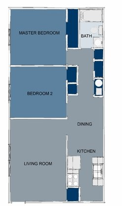 2 Bedrooms 1 Bathroom Apartment for rent at Brookstone Apartments in Lexington, KY
