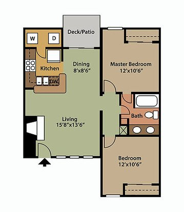 2 Bedrooms 1 Bathroom Apartment for rent at Veridian Of Lexington in Lexington, KY