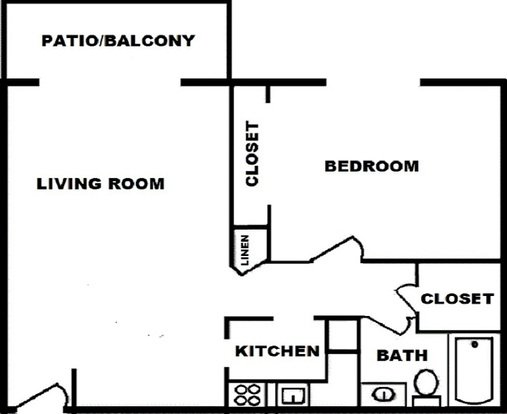 1 Bedroom 1 Bathroom Apartment for rent at The Paddock Apartments in Lexington, KY