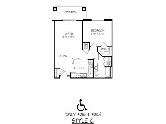 1 Bedroom 1 Bathroom Apartment for rent at Parmenter Circle I in Middleton, WI