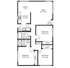 3 Bedrooms 2 Bathrooms Apartment for rent at Lemoli Apartments in Hawthorne, CA