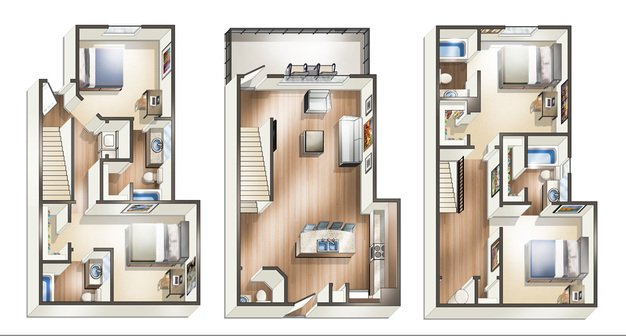 4 Bedrooms 4+ Bathrooms Apartment for rent at The Vue On Stadium Drive in Fayetteville, AR