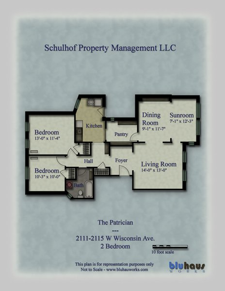 2 Bedrooms 1 Bathroom Apartment for rent at The Patrician in Milwaukee, WI