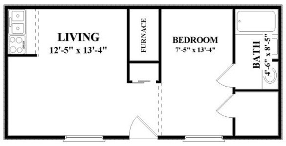 Studio 1 Bathroom Apartment for rent at Fox & Hounds in Columbus, OH