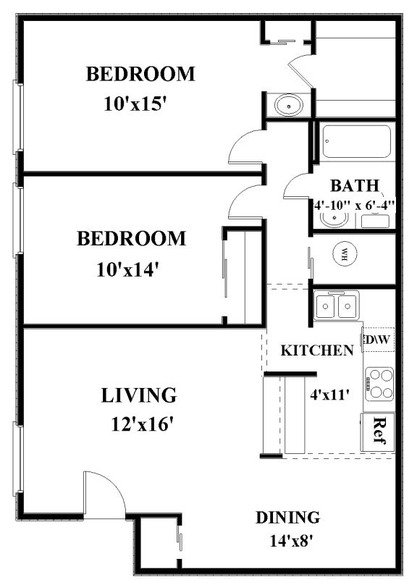 2 Bedrooms 1 Bathroom Apartment for rent at Fox & Hounds in Columbus, OH