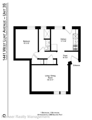 1 Bedroom 1 Bathroom Apartment for rent at 1433 45 W. Lunt Ave in Chicago, IL