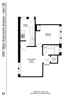 1 Bedroom 1 Bathroom Apartment for rent at 4621 25 N. Lincoln Ave/2257 63 W Eastwood Ave in Chicago, IL