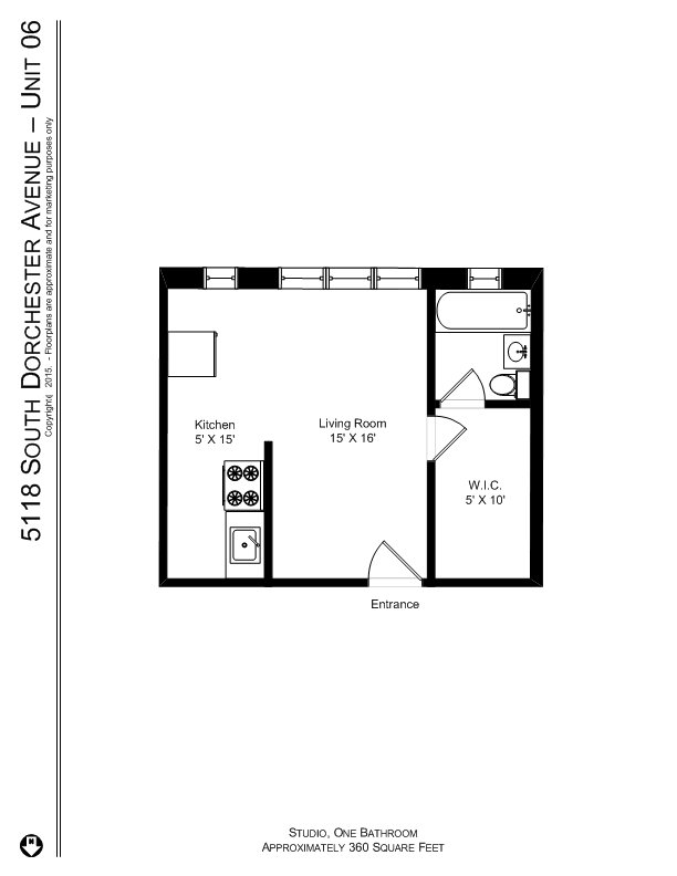 Studio 1 Bathroom Apartment for rent at 5118 S. Dorchester Ave. in Chicago, IL