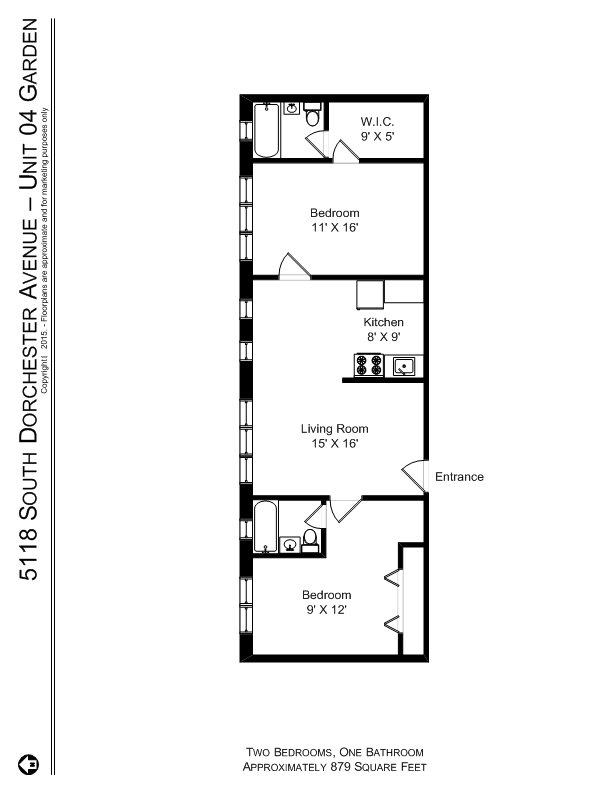 2 Bedrooms 1 Bathroom Apartment for rent at 5118 S. Dorchester Ave. in Chicago, IL