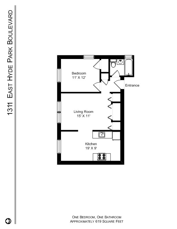 1 Bedroom 1 Bathroom Apartment for rent at The 1300's At Madison Park in Chicago, IL