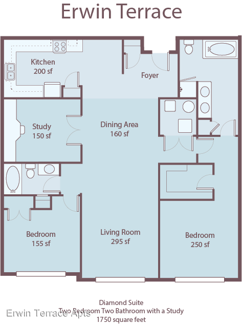 2 Bedrooms 2 Bathrooms Apartment for rent at 2716 D Campus Walk Avenue in Durham, NC