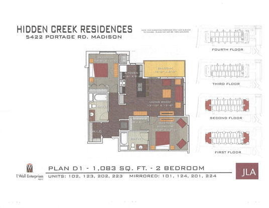 2 Bedrooms 2 Bathrooms Apartment for rent at Hidden Creek Residences in Madison, WI