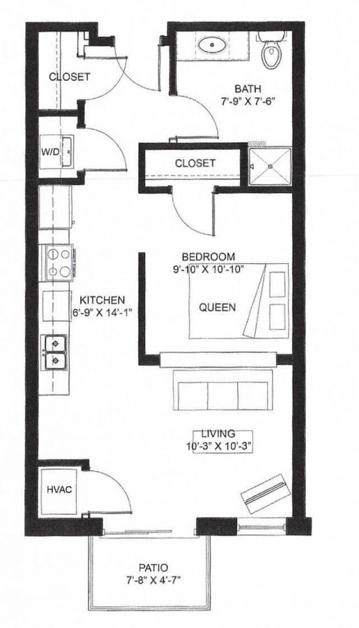 Studio 1 Bathroom Apartment for rent at Middleton Center in Middleton, WI