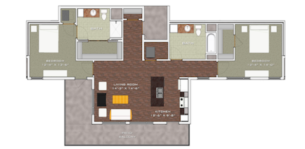 2 Bedrooms 2 Bathrooms Apartment for rent at Veritas Village in Madison, WI