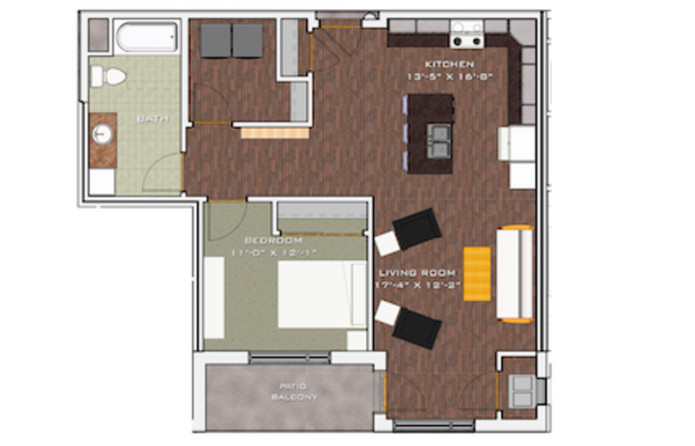 1 Bedroom 1 Bathroom Apartment for rent at Veritas Village in Madison, WI