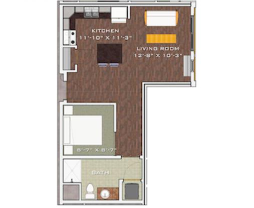 Studio 1 Bathroom Apartment for rent at Veritas Village in Madison, WI