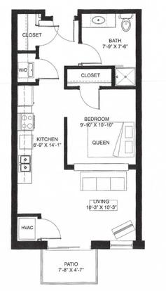 Studio 1 Bathroom Apartment for rent at Middleton Center in Middleton, WI