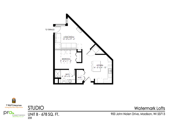 Studio 1 Bathroom Apartment for rent at Watermark Lofts in Madison, WI