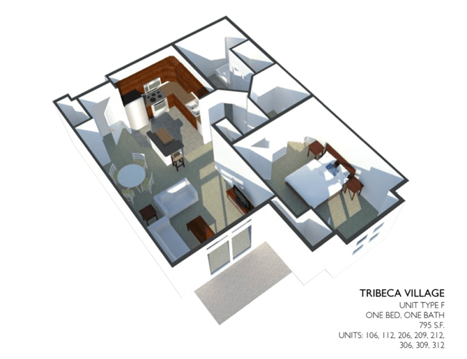 1 Bedroom 1 Bathroom Apartment for rent at Tribeca Village in Middleton, WI