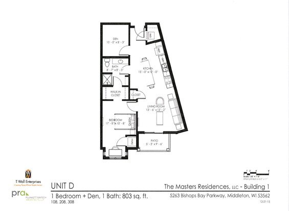 1 Bedroom 1 Bathroom Apartment for rent at The Masters Residences in Middleton, WI