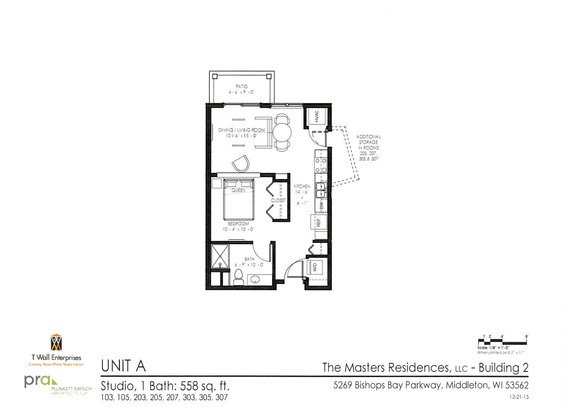 Studio 1 Bathroom Apartment for rent at The Masters Residences in Middleton, WI