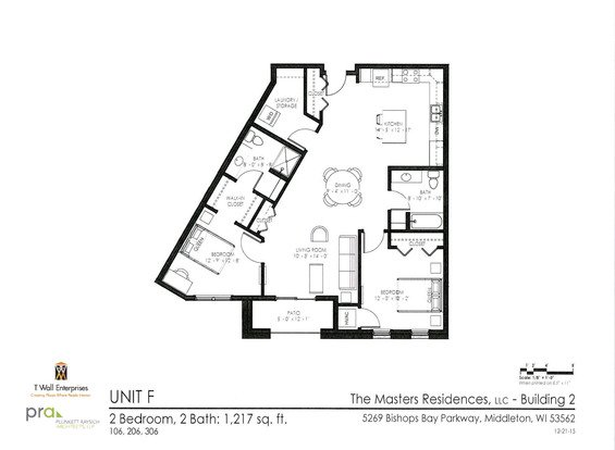 2 Bedrooms 2 Bathrooms Apartment for rent at The Masters Residences in Middleton, WI