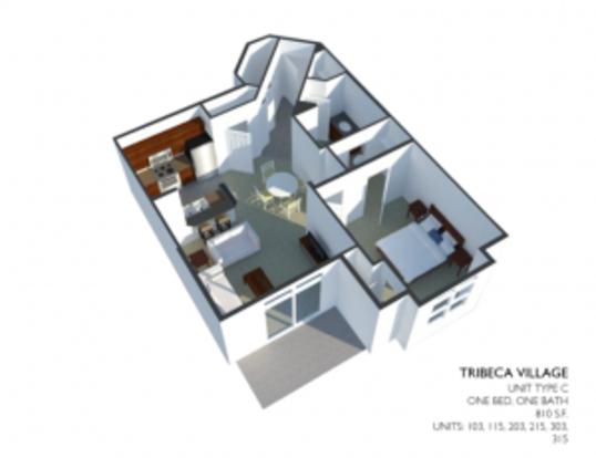 1 Bedroom 1 Bathroom Apartment for rent at Tribeca Village in Middleton, WI