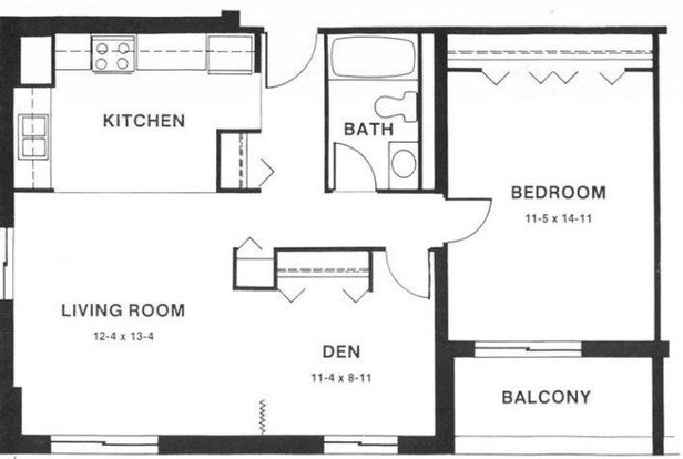 1 Bedroom 1 Bathroom Apartment for rent at Capitol Centre Court Apartments in Madison, WI