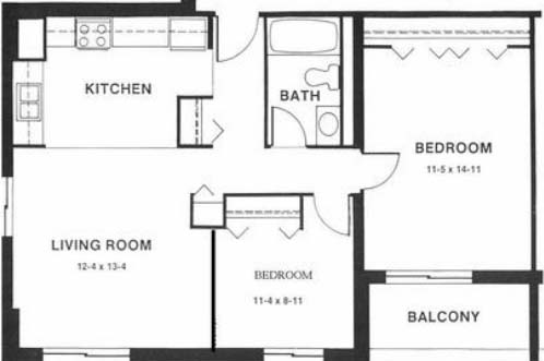 2 Bedrooms 1 Bathroom Apartment for rent at Capitol Centre Court Apartments in Madison, WI