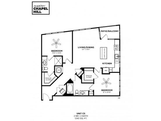 2 Bedrooms 2 Bathrooms Apartment for rent at Alexan Chapel Hill in Chapel Hill, NC