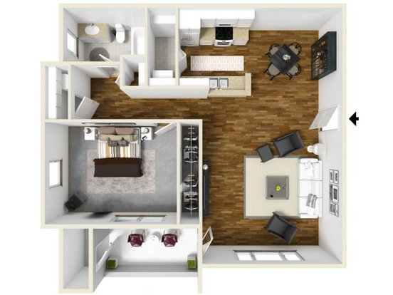 1 Bedroom 1 Bathroom Apartment for rent at The Bailey At Amazon Creek in Eugene, OR