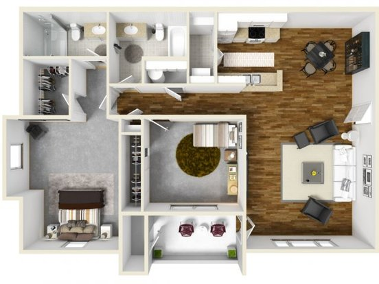 2 Bedrooms 2 Bathrooms Apartment for rent at The Bailey At Amazon Creek in Eugene, OR