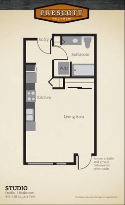 Studio 1 Bathroom Apartment for rent at Prescott Wallingford Apartments in Seattle, WA