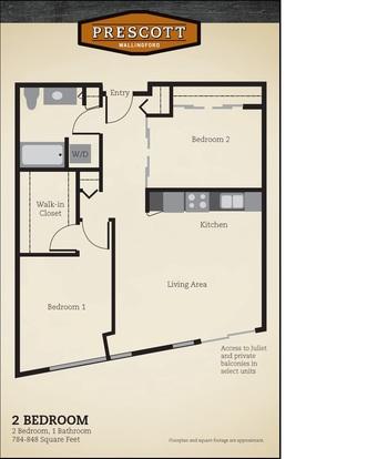 2 Bedrooms 1 Bathroom Apartment for rent at Prescott Wallingford Apartments in Seattle, WA