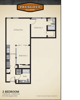 2 Bedrooms 2 Bathrooms Apartment for rent at Prescott Wallingford Apartments in Seattle, WA